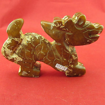 Chinese ancient Hand-carved jade Chinese Dragon Decoration B1259