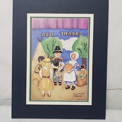 """MetzWood Print """"Giving Thanks""""  33 of 400 Matted 11 x 14 Limited Edition Signed"""