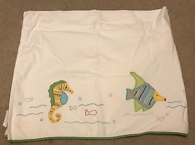 Pottery Barn Kids Ocean Critters Window Valance Curtain Nursery
