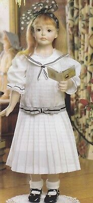 25 inch doll sewing pattern - SAILOR DRESS with contrast trims