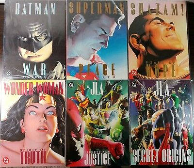 Alex Ross DC Treasury Edition Set! 6 Total Books! Great Condition!