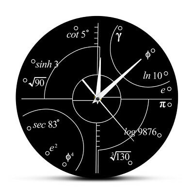 Advanced Math Irrational Numbers Wall Clock Science Mathematical Wall Art Modern