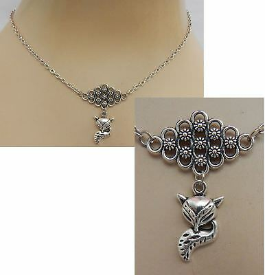 Fox Necklace Pendant Jewelry Handmade NEW Fashion Women Silver Chain Accessory