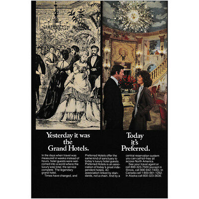1979 Preferred Hotels: Yesterday It Was the Grand Hotels Vintage Print Ad