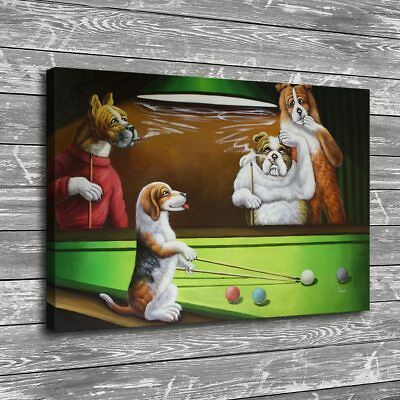 """12""""x18"""" Dog Playing Cards Poster HD Canvas Prints Home Room Decor Wall picture"""