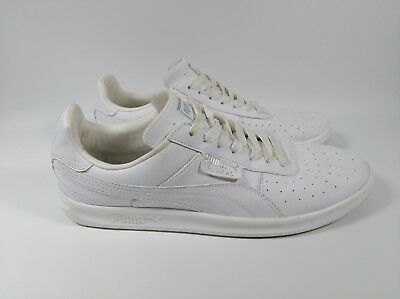 Puma G. Vilas White Leather Men s 10.5 Athletic Casual Dress Sneakers 352758  01 195f97abd