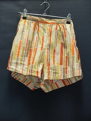 1950's/60's Vintage Waisted Shorts in Abstract Pattern.