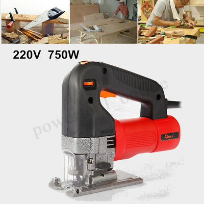 750W Electric Jig Saw Variable Speed Woodworking Curve Saws + Cutting Blade UK