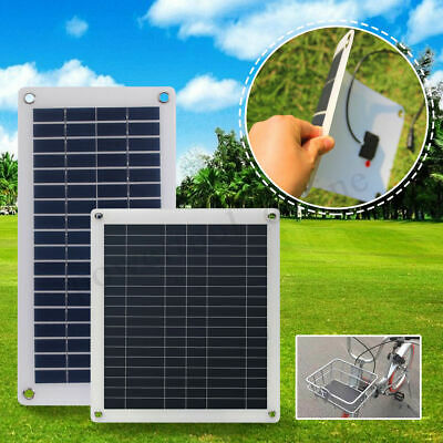 10W 15W 20W 25W Solar Panel Waterproof USB Car Battery Charger Camping