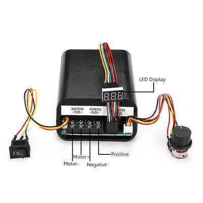 DC 10-55V MAX 60A PWM Motor Speed Controller CW CCW Revesible Switch