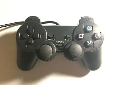 Dual Shock Controller for Sony PS1 or PS2 (BLACK)