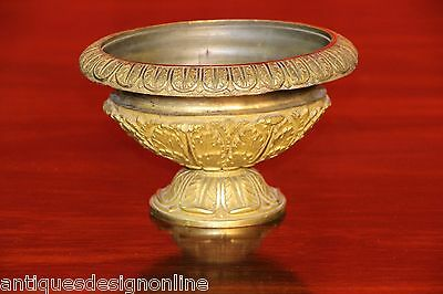 Antique French Empire gilt bronze urn vase cassolette 1820 Napoleon gold ormolu