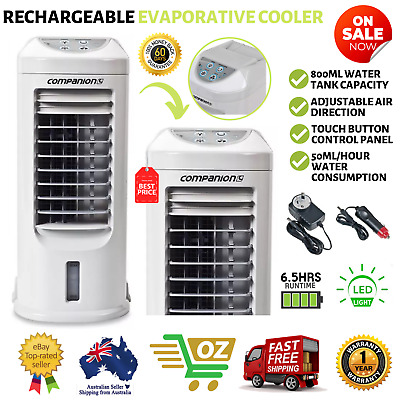 12v Evaporative Cooler Rechargeable Portable Fan Air Conditioner Mini Cooling AU