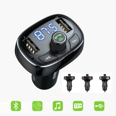Baseus Bluetooth Dual USB Car Charger FM Transmitter Handsfree Audio MP3 Player