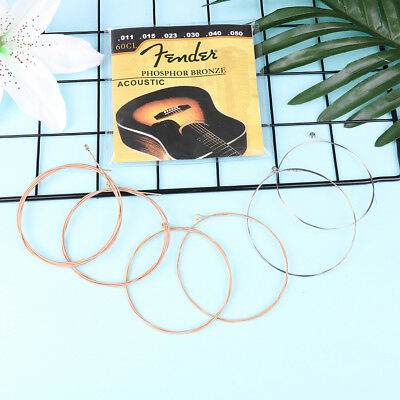 6pcs Accessory for acoustic guitar one set strings  I