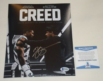 FILM DIRECTOR RYAN COOGLER SIGNED AUTOGRAPHED CREED 8x10 PHOTO BAS COA F94903
