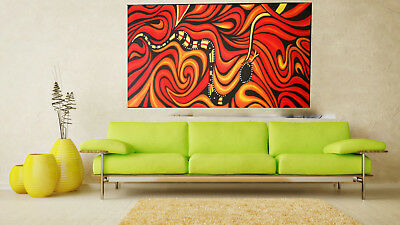 200cm oil painting canvas original art bush red jane crawford Australia