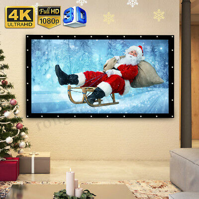 """57"""" 4:3 Manual Pull Down Wall Mounted Projector Screen Matt White Projection UK"""
