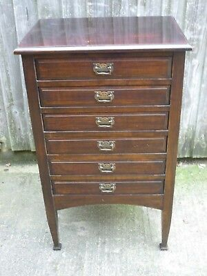 Arts & Crafts Antique Sheet Music Cabinet/ Chest of Drawers VGC