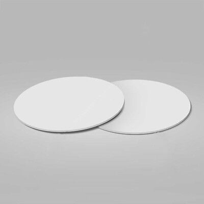 100 Pcs Drink Cardboard Round Coaster - 9.5 Cm Diameter - White - Party Supply