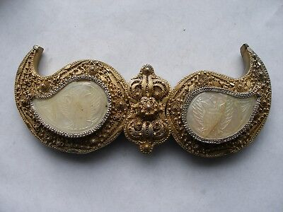 Antique. Handmade Silver Gilded Filigree Belt Buckle. Ottoman Empire,