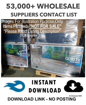 £1000 Per Week  - BULK & WHOLESALE STOCK 30,000+ SUPPLIERS LIST X2 NEW - 2019