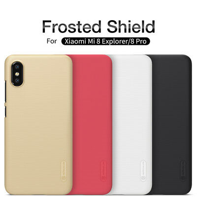 ✔️ Cover ORIGINALE Nillkin® Frosted Case Custodia + Supporto Per Xiaomi Mi 8 Pro
