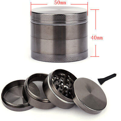 Couleur Carbone 50MM Epice Broyeur a main Moulin Herbe pollen 4 couches Grinder