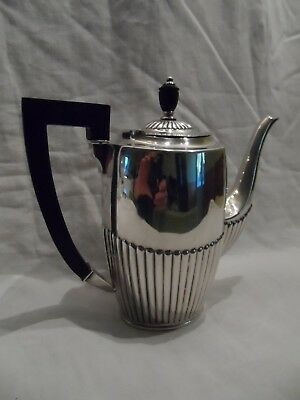 Christofle Cafetiere Ou Theiere Metal Argente Decor Bambou Parfait Etat