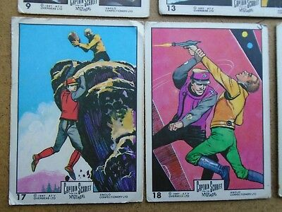 54 VINTAGE CAPTAIN SCARLET & the MYSTERONS GUM CARDS by ANGLO 1968
