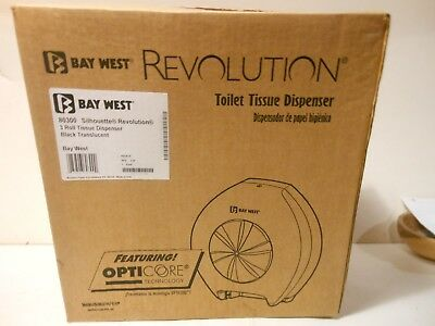 Bay West Revolution Toilet Tissue Dispenser Silhouette 3 Roll Black 80300 / New