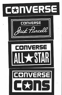 4 x CONVERSE Stickers From USA: All Star, Cons, Jack Purcell & Logo - Mint!!