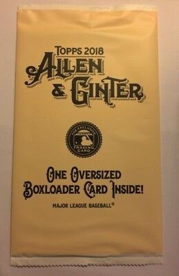 2018 Topps Allen & Ginter Baseball Unopened Factory Sealed Box Loader Pack