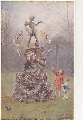 Old Postcard Medici Society Artist Signed Peters Friends Fairy Margaret Tarrant