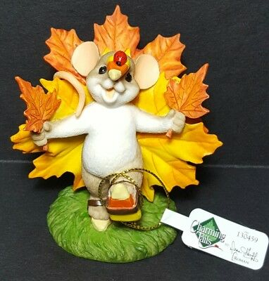 """New Charming Tails Mouse Figurine By Dean Griff  """"Turkey Trottin My Way To You"""""""