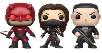 Funko Pop Marvel Daredevil Tv - Daredevil Elektra Punisher Vinyl Figure
