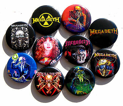 10 BUTTONS Megadeth Dave Mustaine Peace Sells Killing Is My Business shirt patch