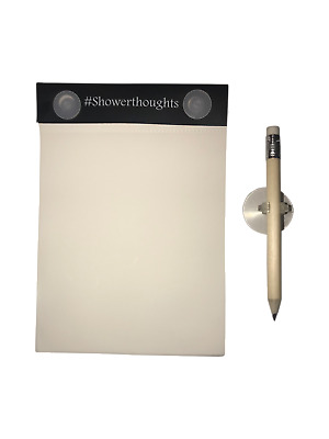 Waterproof Notepad - Shower Notepad with Pencil for Taking Notes in the Shower