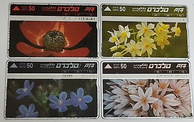 Israel phone cards, Nature Protection, Flowers, 1993