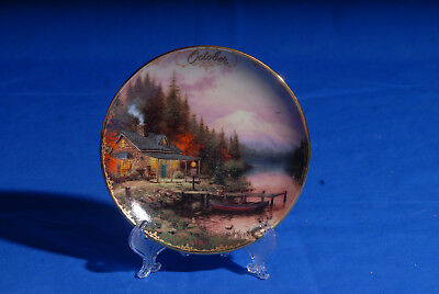 October End of a Perfect Day By Thomas Kinkade's Simpler Times Calendar Plate 98
