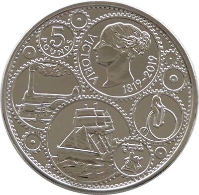 2019 Royal Mint Queen Victoria BU £5 Five Pound Coin Uncirculated