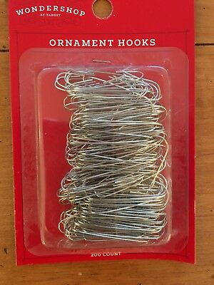 NEW Silver Nickel Christmas Ornament Hangers Hooks 100 in Sealed Package Top NIP