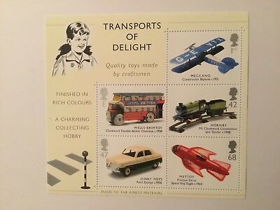 """Royal Mail GB Miniature Sheet """"Transports of Delight"""" MNH Very Fine"""