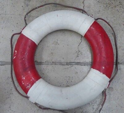 Antique Life Saving Ring Buoy Boat Ship Float Uts