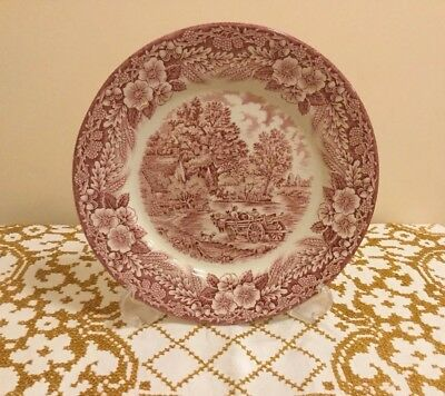 1970's Broadhurst Ironstone (pink) Constable Series Dinner Plate