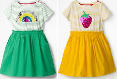 4897653c1 Mini Boden girls dress summer 3 4 9 10 11 12 years rainbow strawberry  sequins