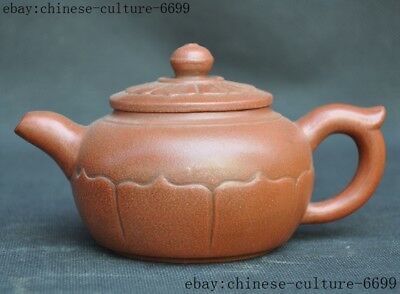 Marked old Chinese Yixing Zisha pottery master Hand carved teapot tea pot maker