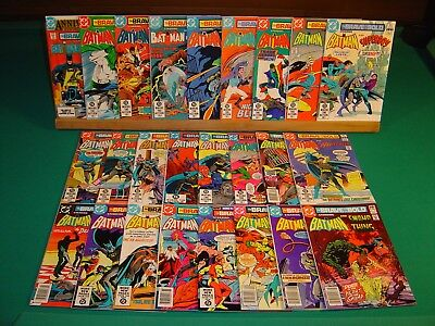 The Brave and the Bold 176-200 (1981-1983) FN/VF 7.0 Batman & Guest Stars DC