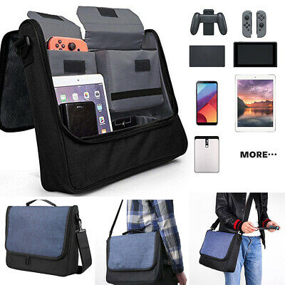 For Nintendo Switch Large Capacity  Protective Storage Compartments Shoulder Bag