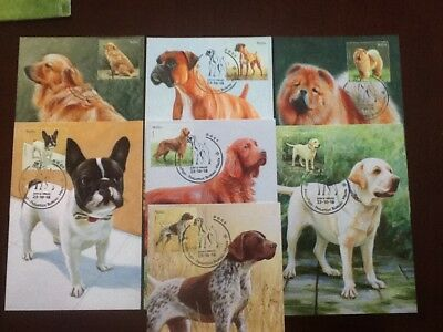 2018 Malta Maximum Cards Dogs 2018 with stamps number 68-83 Set x 16  VF